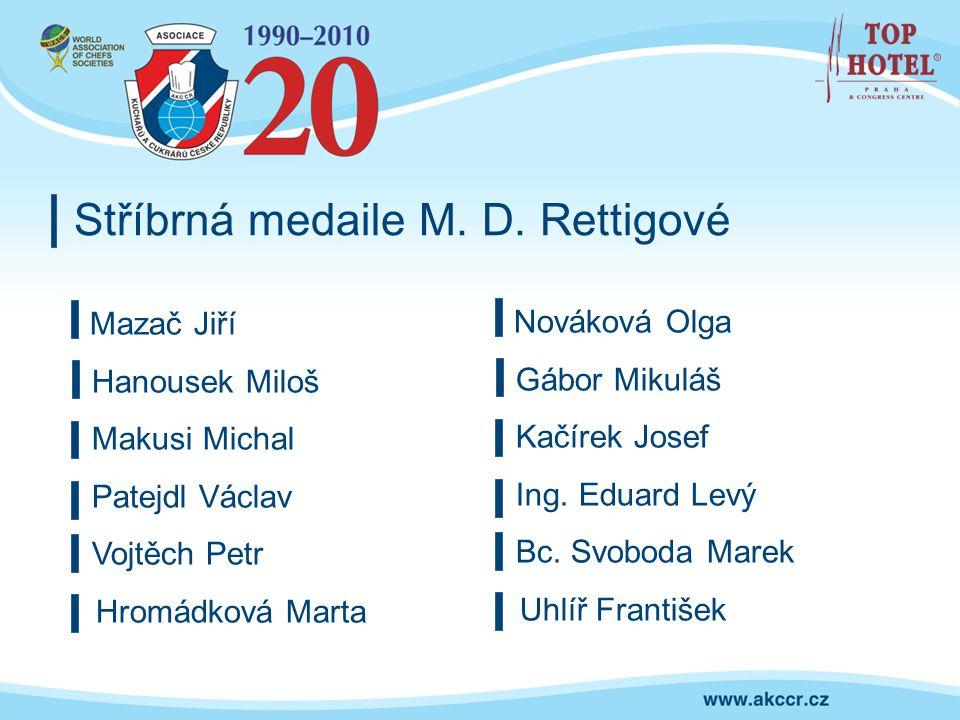 Stříbrná medaile M. D. Rettigové