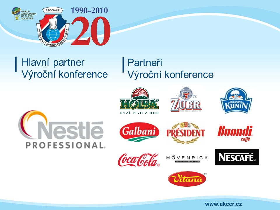 Hlavní partner Výroční konference Partneři Výroční konference
