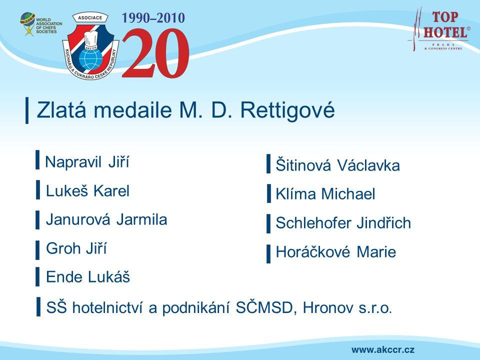 Zlatá medaile M. D. Rettigové