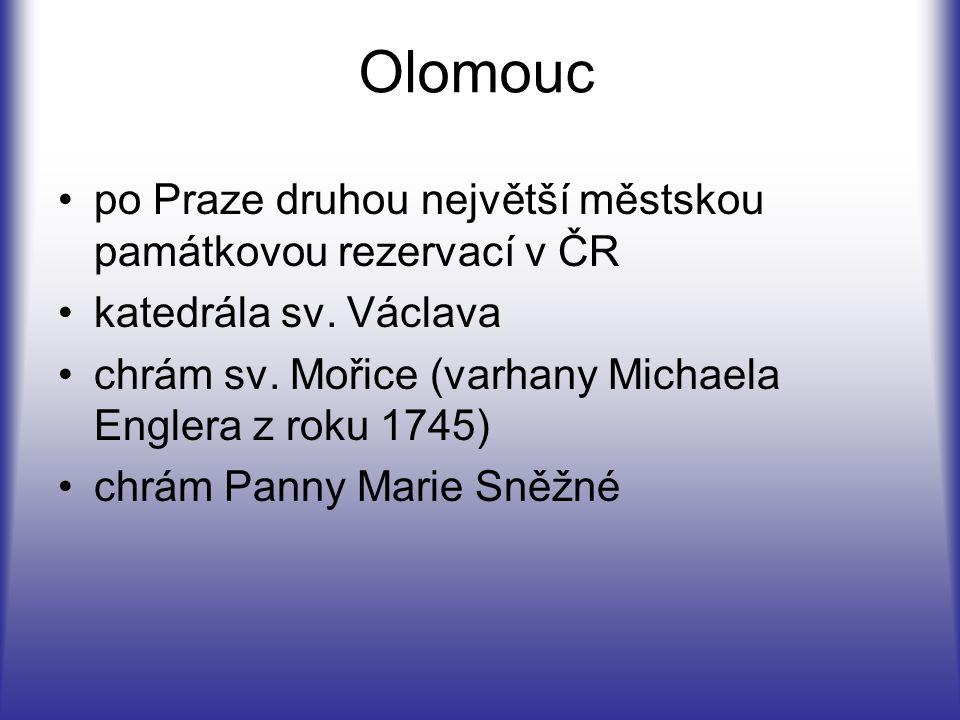 Olomouc po Praze druhou největší městskou památkovou rezervací v ČR