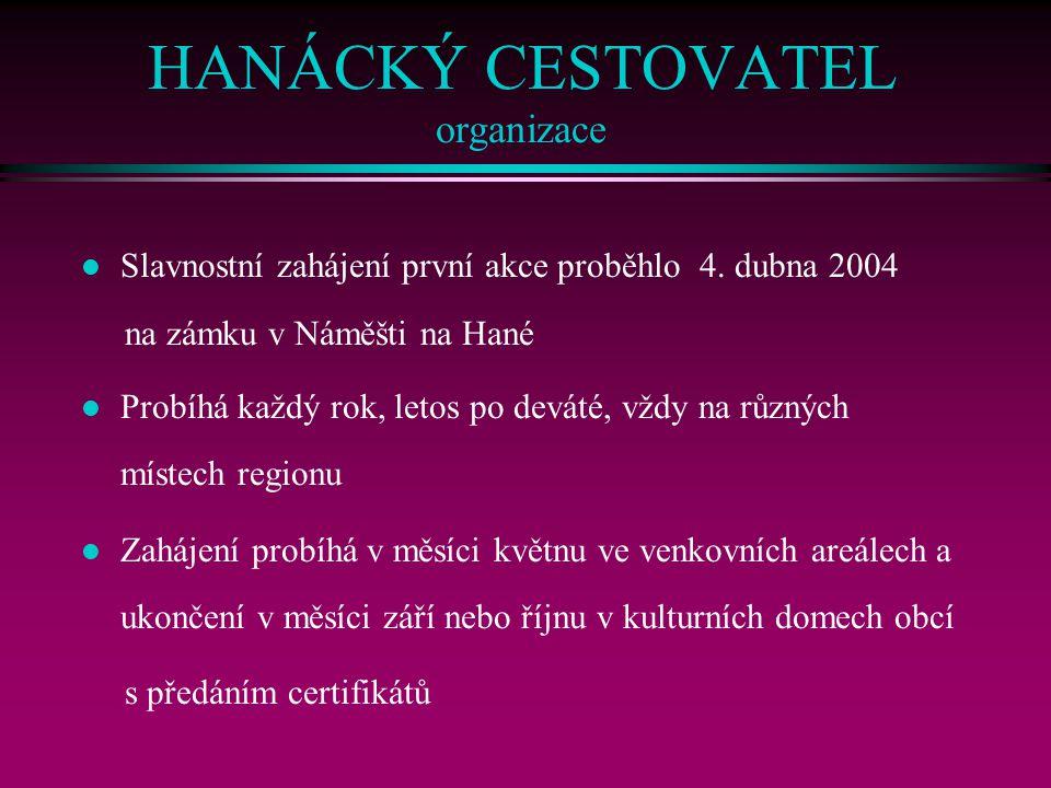 HANÁCKÝ CESTOVATEL organizace