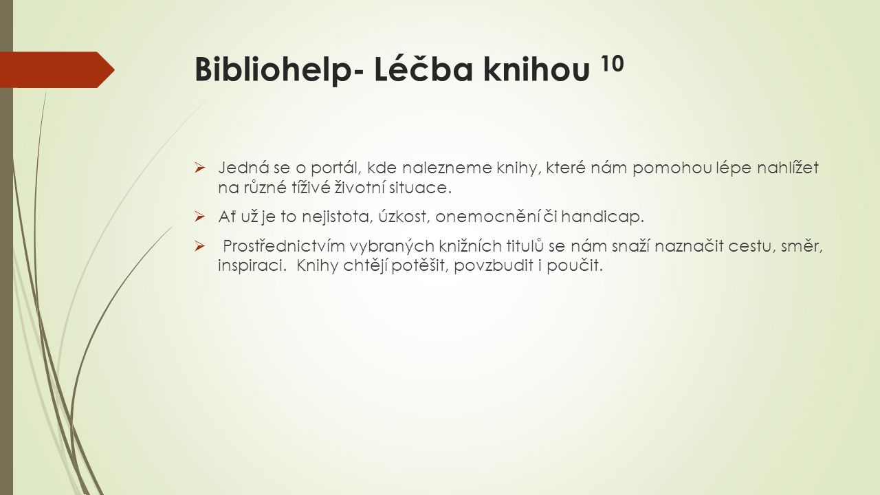 Bibliohelp- Léčba knihou 10