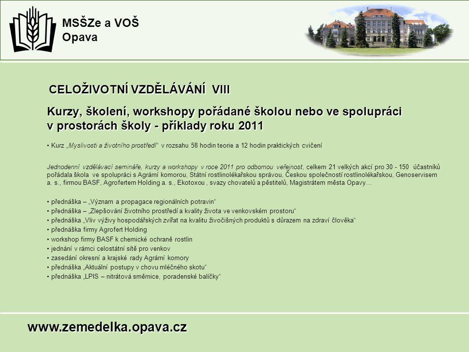 Kurzy, školení, workshopy pořádané školou nebo ve spolupráci