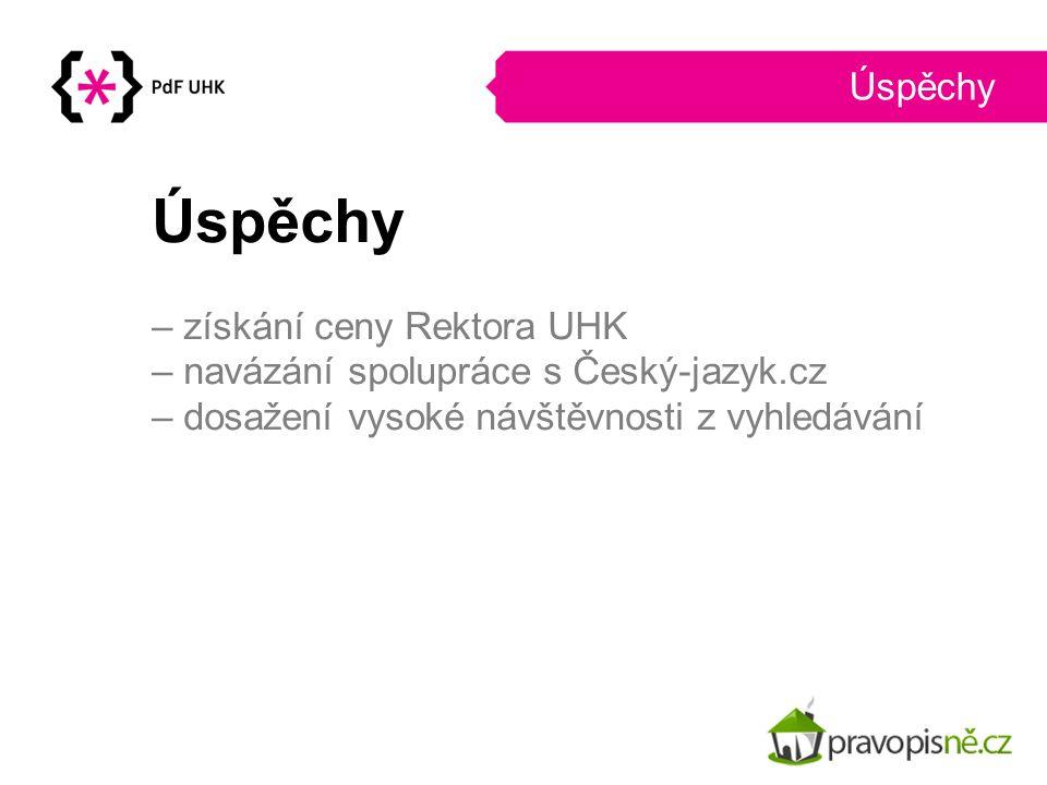 Úspěchy Úspěchy – získání ceny Rektora UHK
