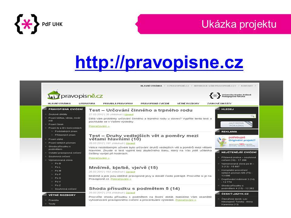 Ukázka projektu http://pravopisne.cz