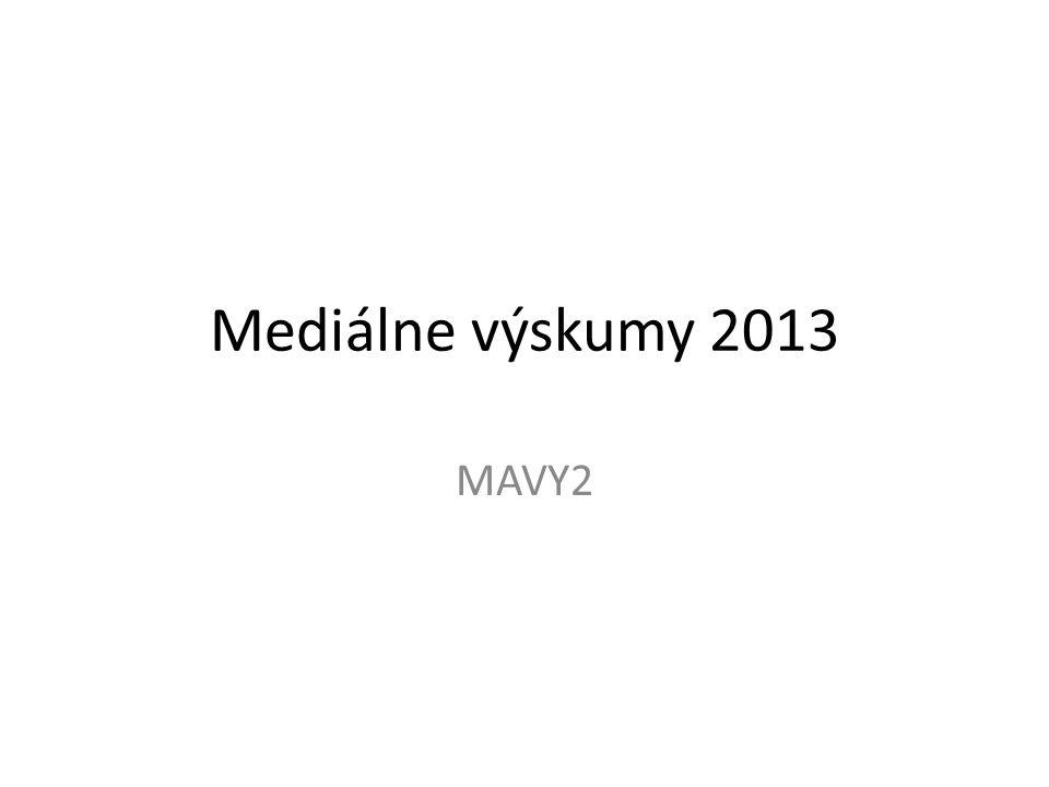 Mediálne výskumy 2013 MAVY2