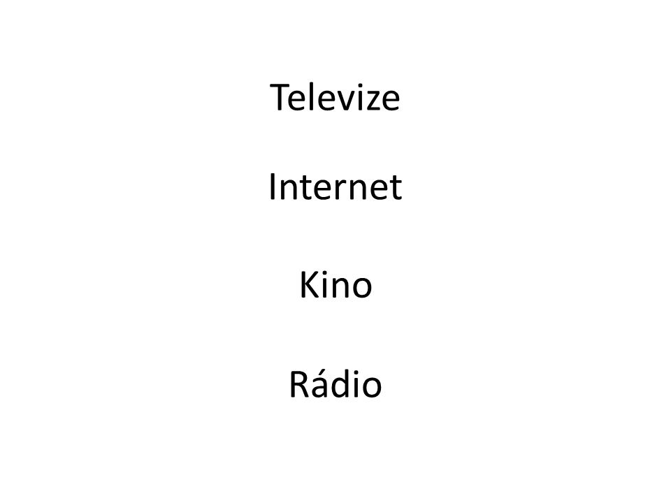 Televize Internet Kino Rádio