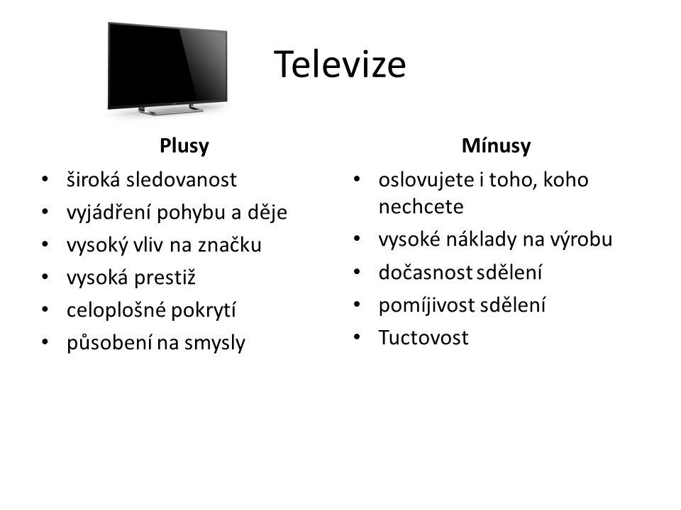 Televize Plusy Mínusy široká sledovanost vyjádření pohybu a děje