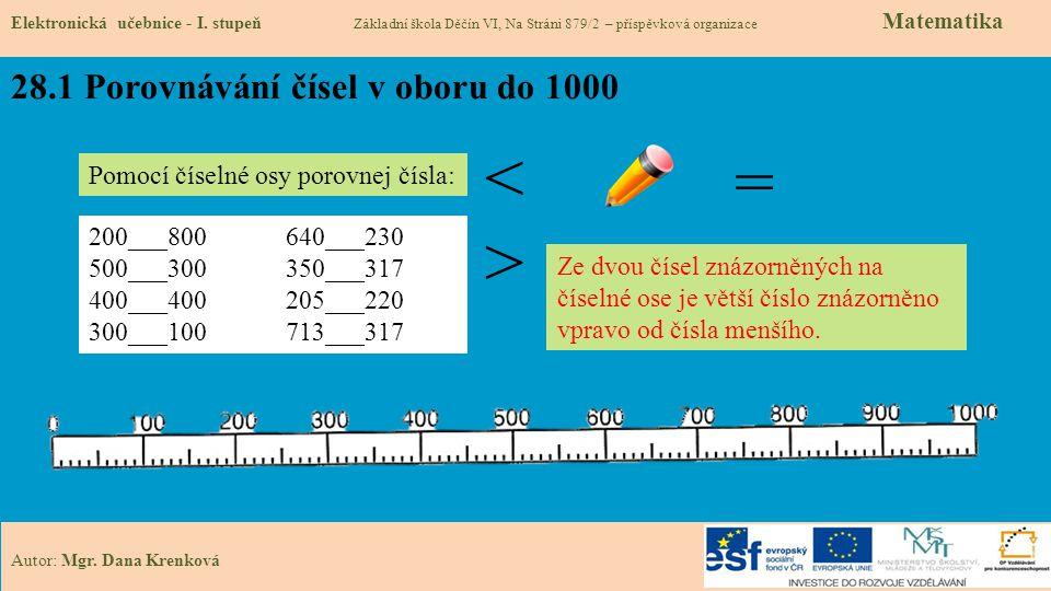 28.1 Porovnávání čísel v oboru do 1000
