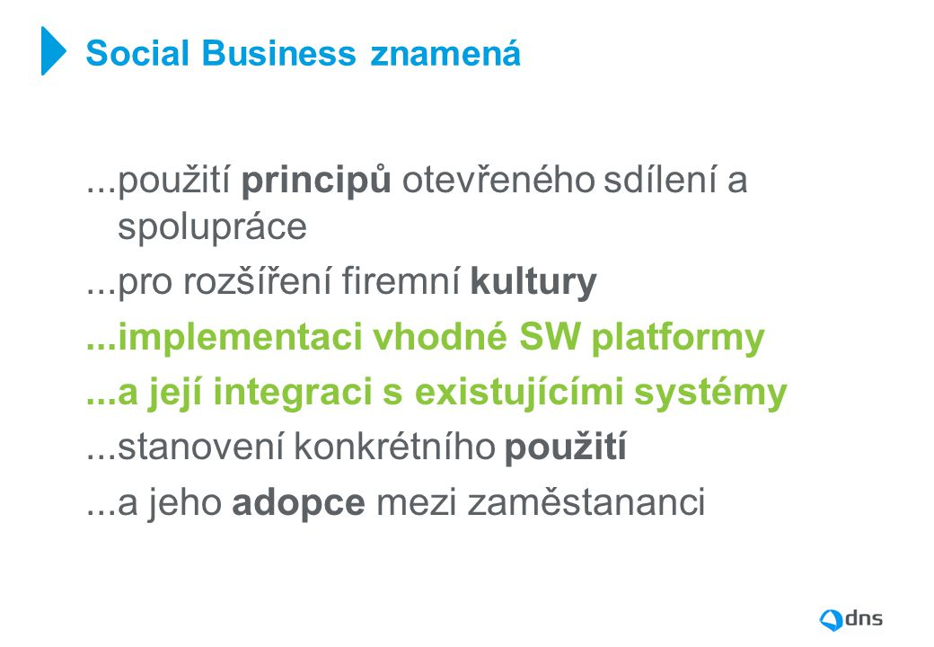 Social Business znamená
