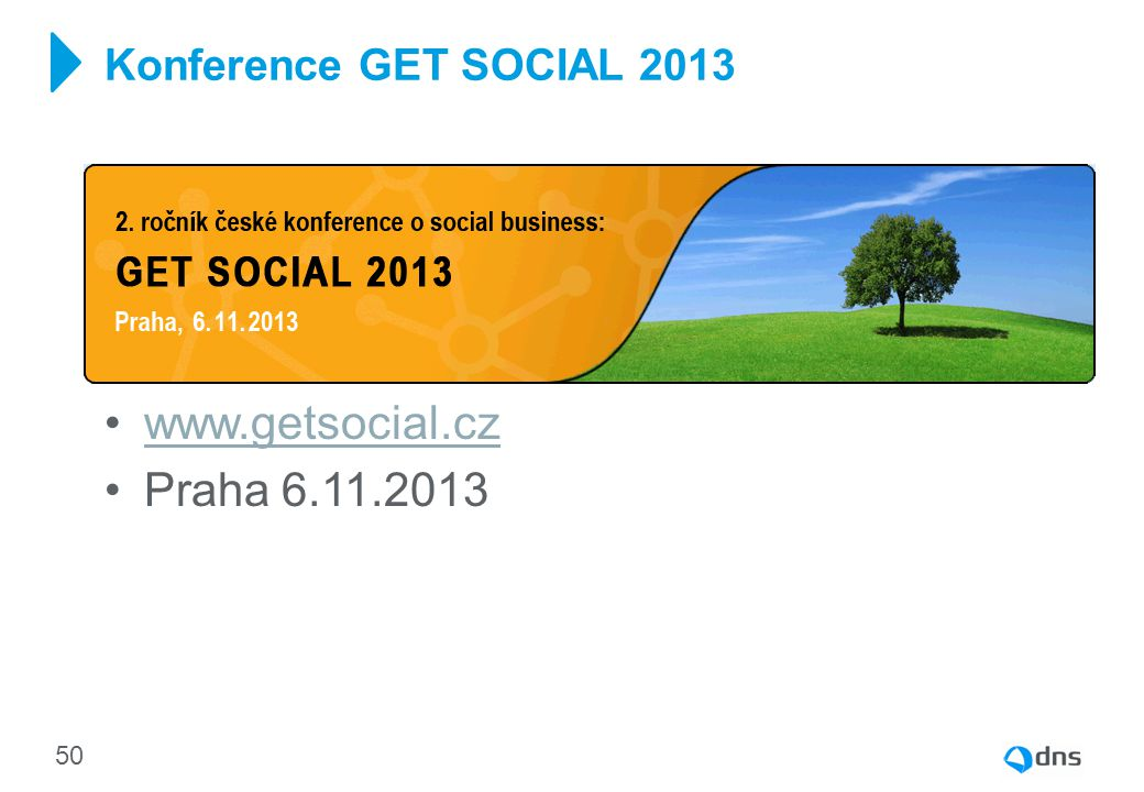 Konference GET SOCIAL 2013 www.getsocial.cz Praha 6.11.2013