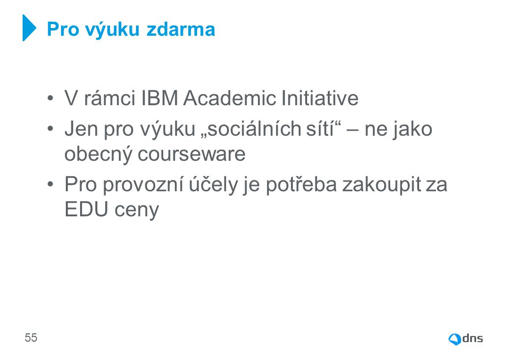 V rámci IBM Academic Initiative