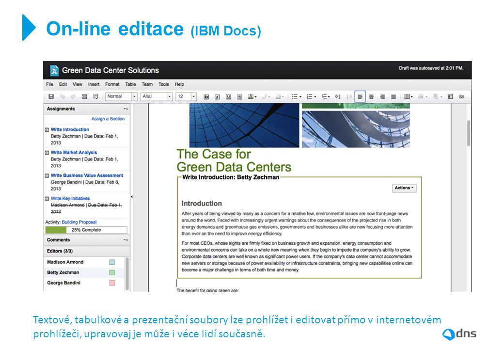 On-line editace (IBM Docs)