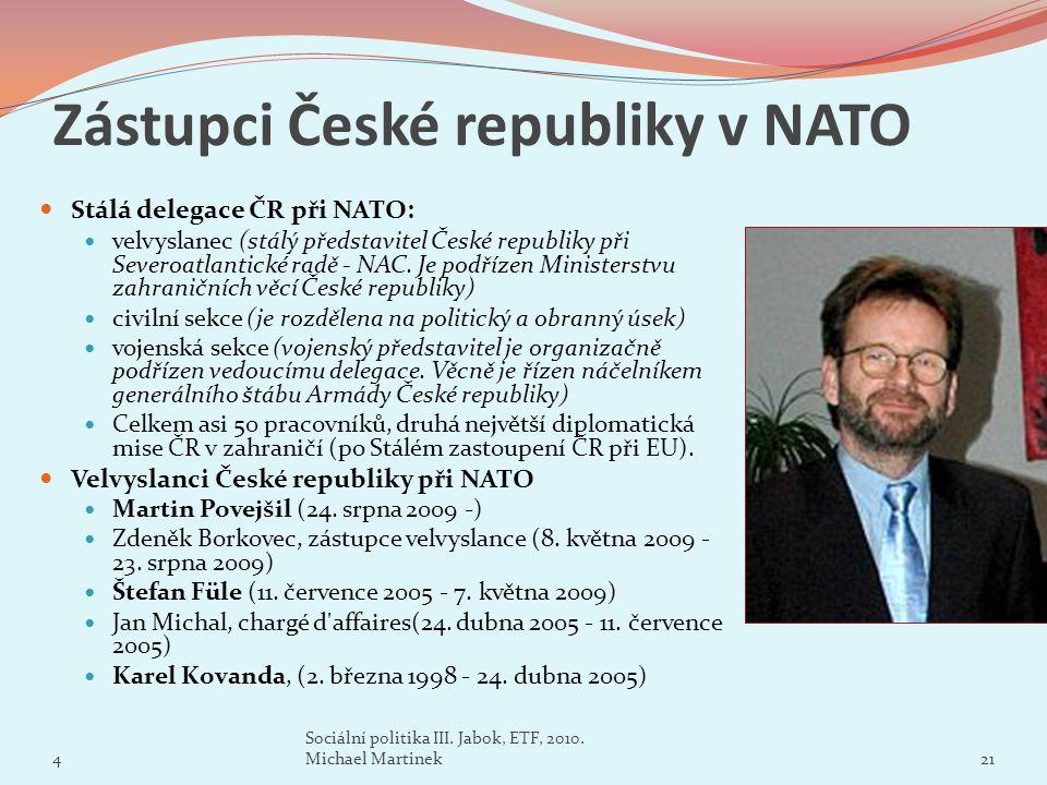 Zástupci České republiky v NATO