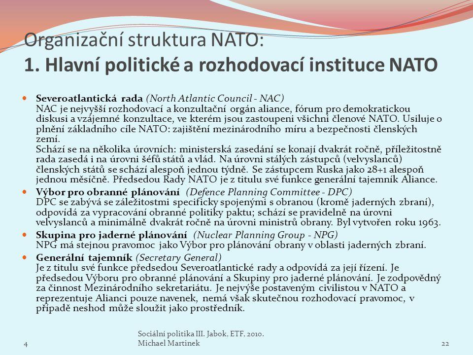Organizační struktura NATO: 1