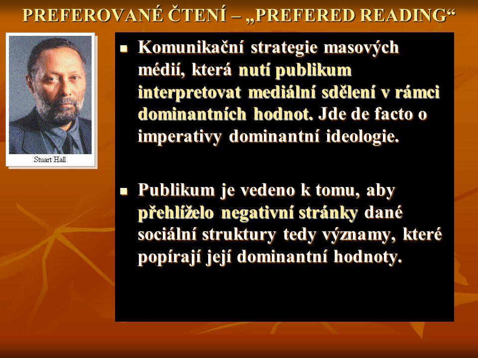 """PREFEROVANÉ ČTENÍ – """"PREFERED READING"""