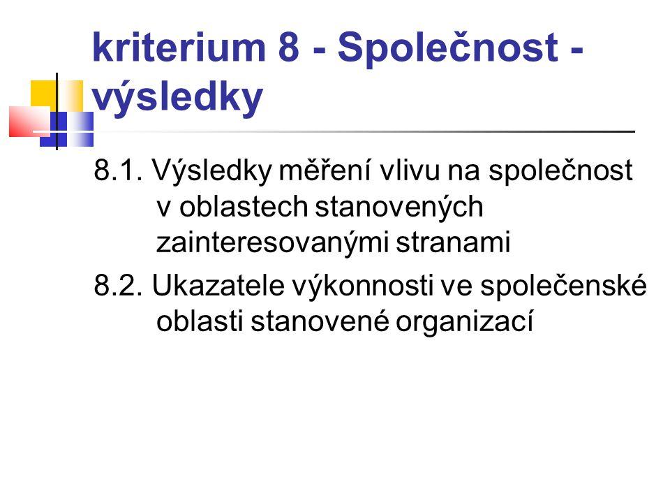 kriterium 8 - Společnost - výsledky