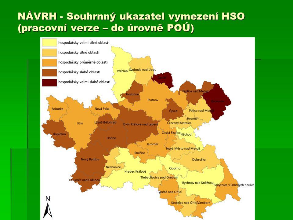 NÁVRH - Souhrnný ukazatel vymezení HSO (pracovní verze – do úrovně POÚ)