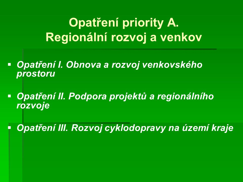 Regionální rozvoj a venkov