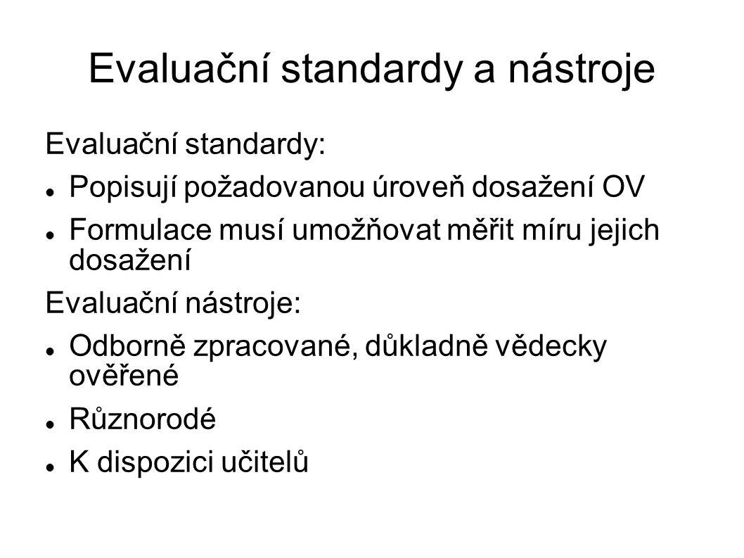 Evaluační standardy a nástroje