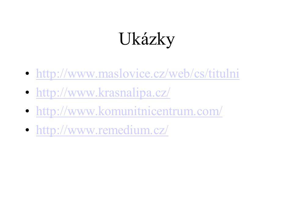 Ukázky http://www.maslovice.cz/web/cs/titulni
