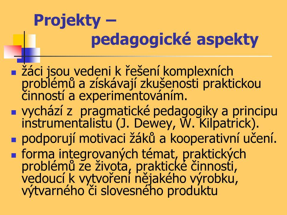 Projekty – pedagogické aspekty
