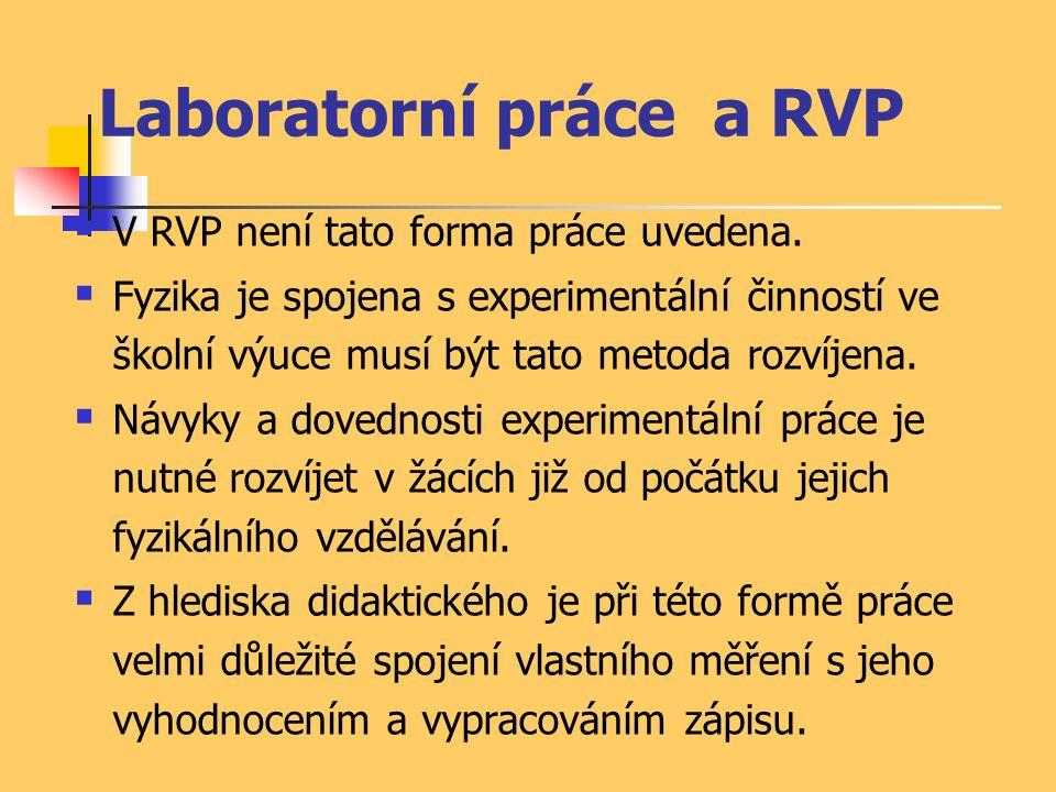 Laboratorní práce a RVP