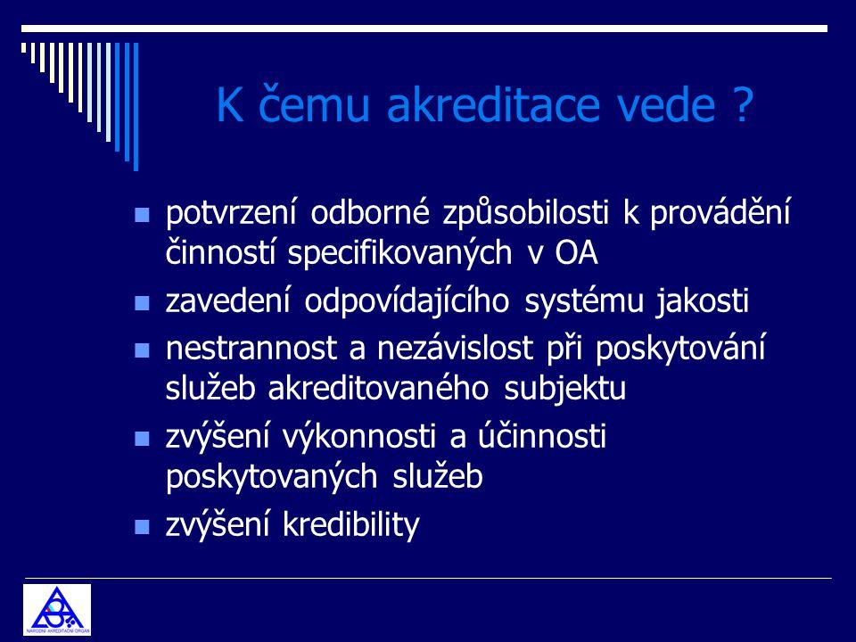 K čemu akreditace vede potvrzení odborné způsobilosti k provádění činností specifikovaných v OA.