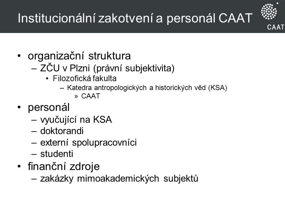 Institucionální zakotvení a personál CAAT