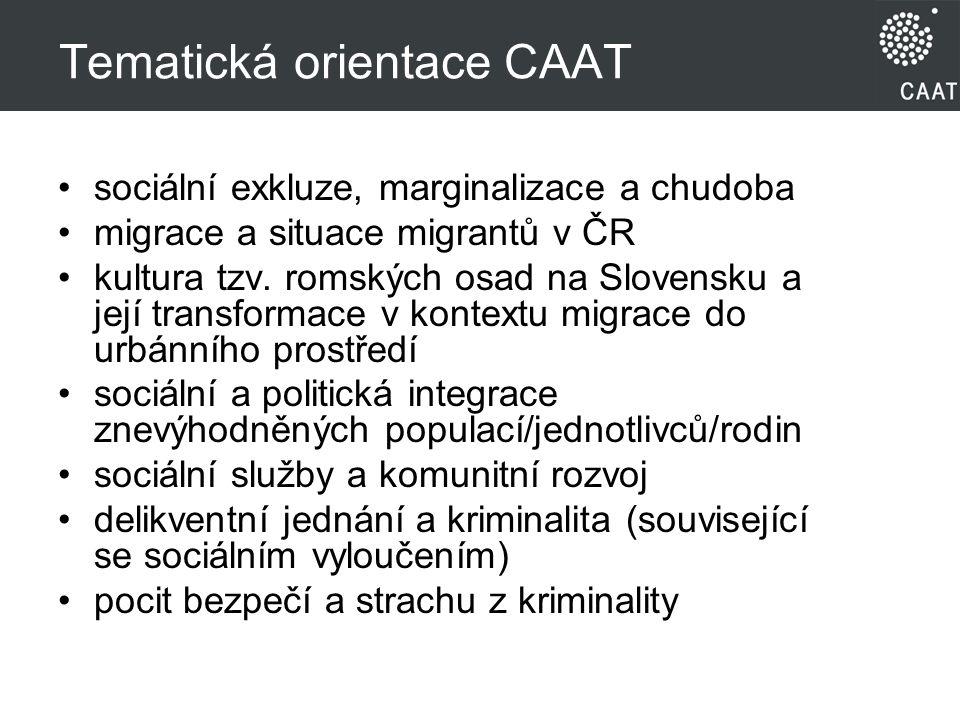 Tematická orientace CAAT