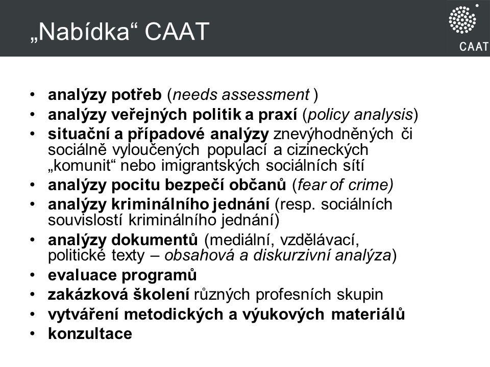 """Nabídka CAAT analýzy potřeb (needs assessment )"