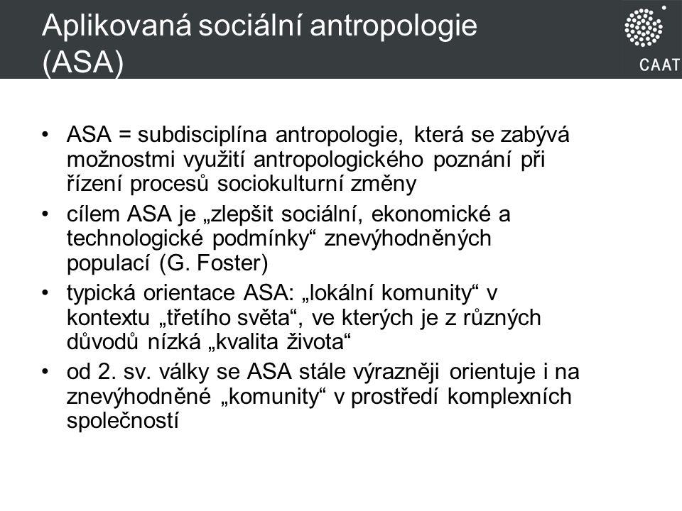Aplikovaná sociální antropologie (ASA)