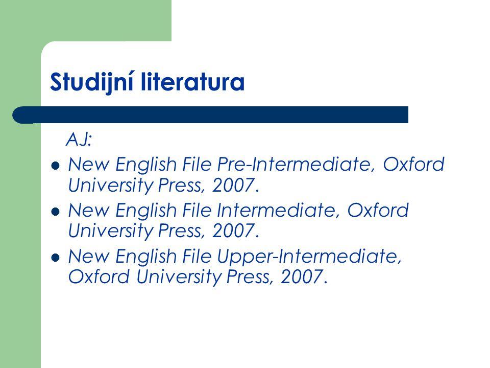 Studijní literatura AJ: