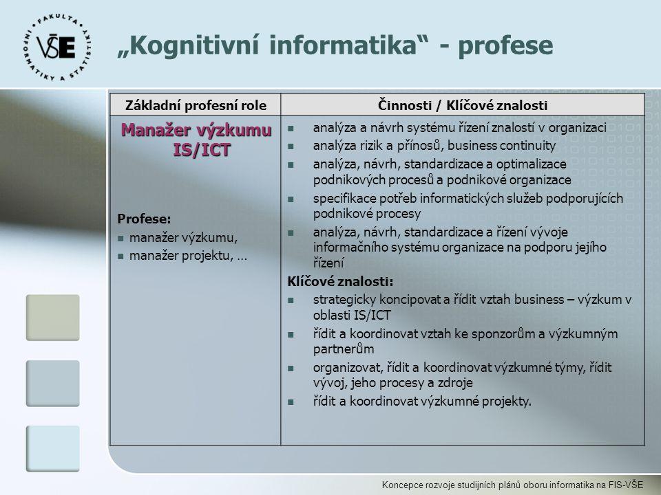 """""""Kognitivní informatika - profese"""