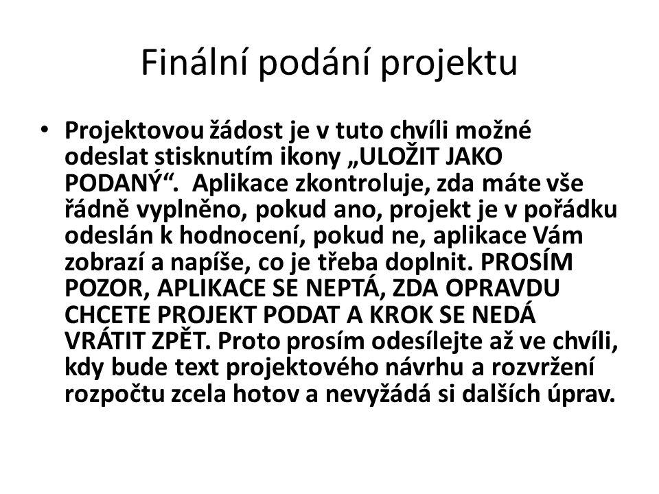 Finální podání projektu