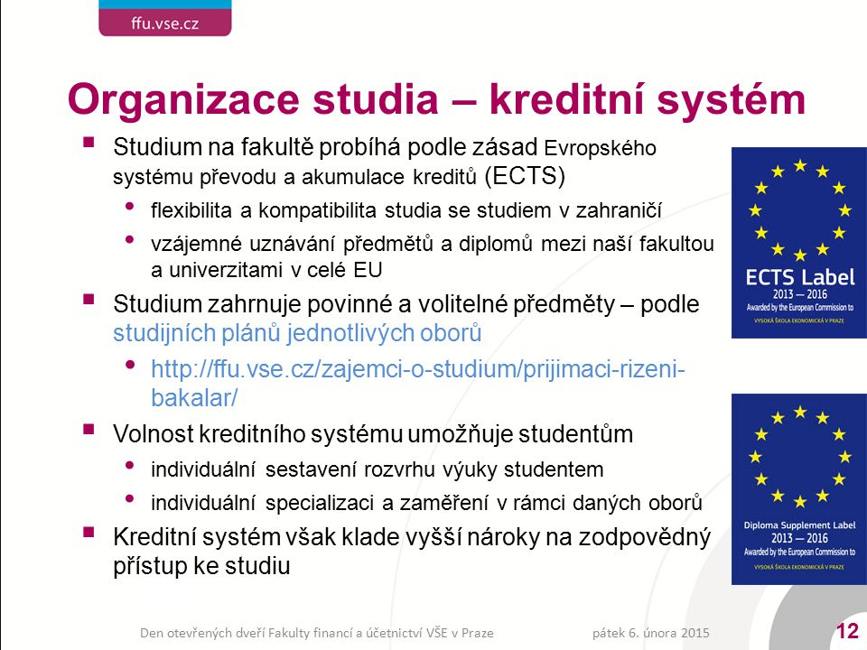 Den otevřených dveří Fakulty financí a účetnictví VŠE v Praze