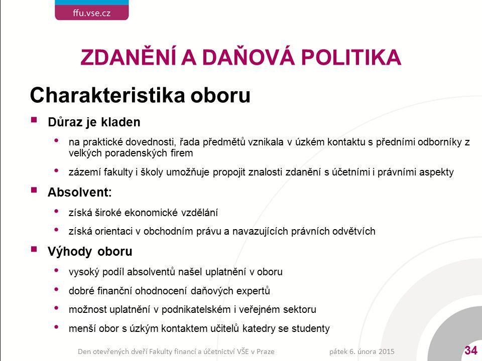 ZDANĚNÍ A DAŇOVÁ POLITIKA