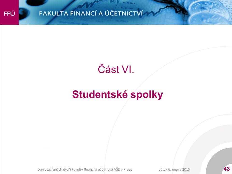 Část VI. Studentské spolky