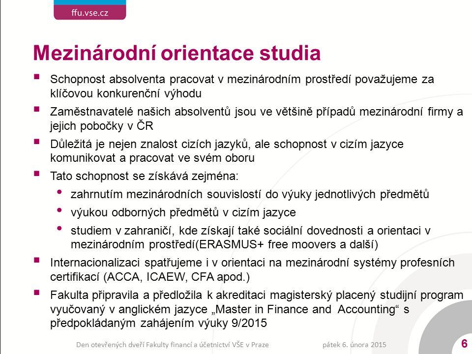 Mezinárodní orientace studia