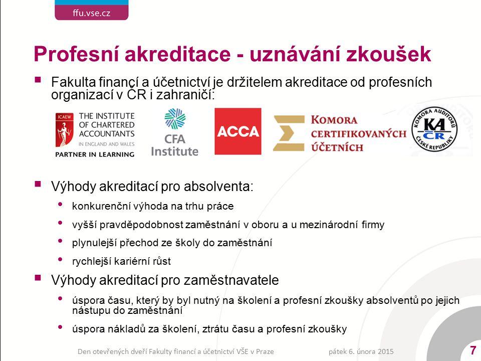 Profesní akreditace - uznávání zkoušek