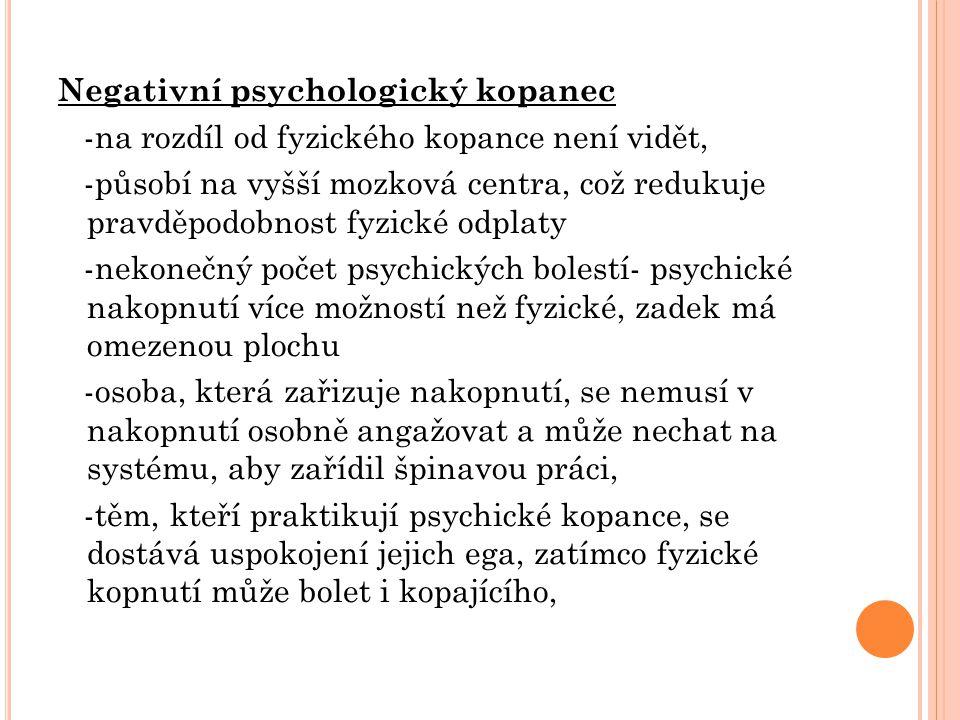 Negativní psychologický kopanec