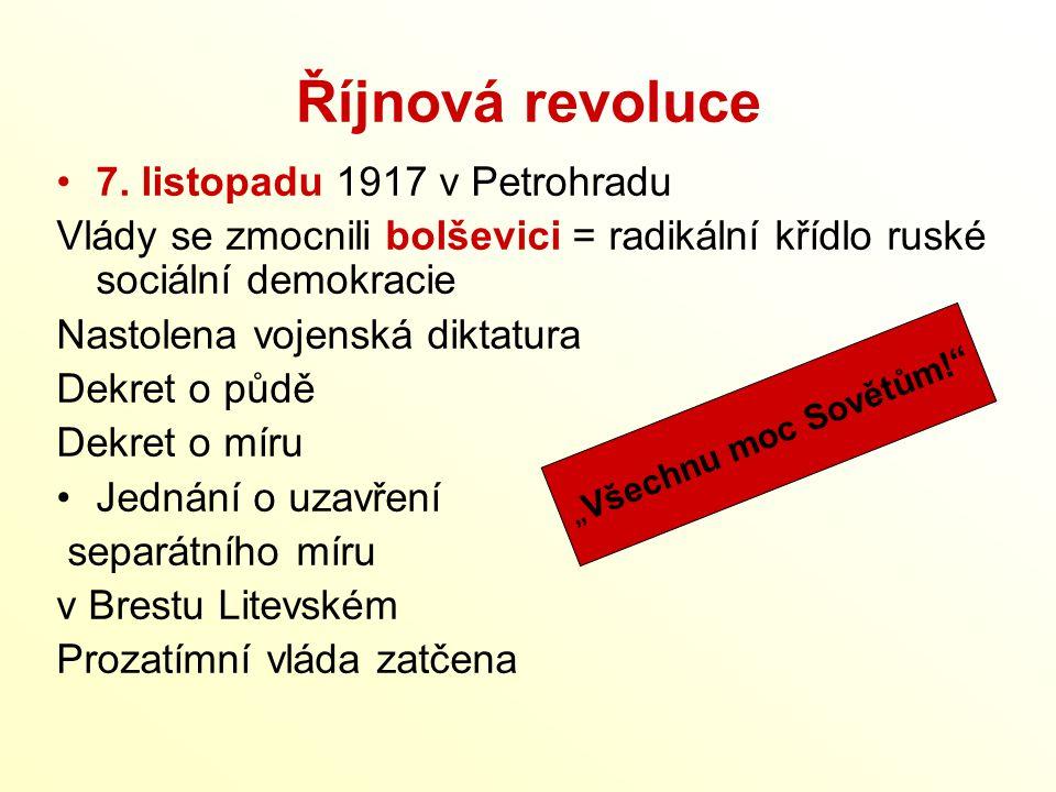 Říjnová revoluce 7. listopadu 1917 v Petrohradu