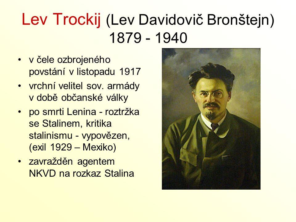 Lev Trockij (Lev Davidovič Bronštejn) 1879 - 1940
