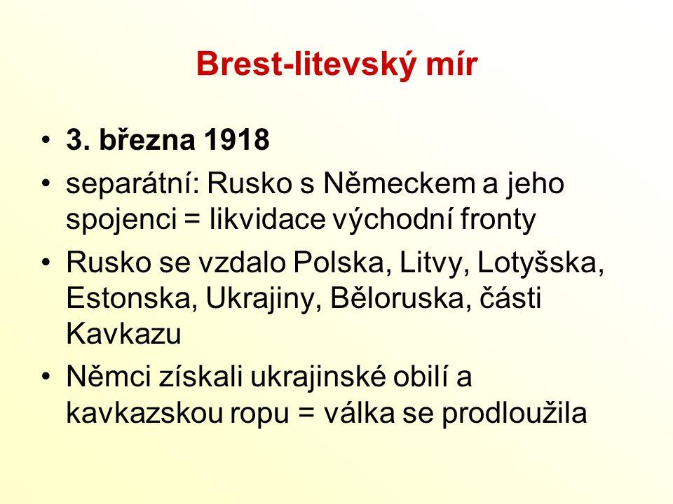 Brest-litevský mír 3. března 1918