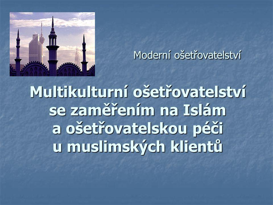 Moderní ošetřovatelství Multikulturní ošetřovatelství se zaměřením na Islám a ošetřovatelskou péči u muslimských klientů