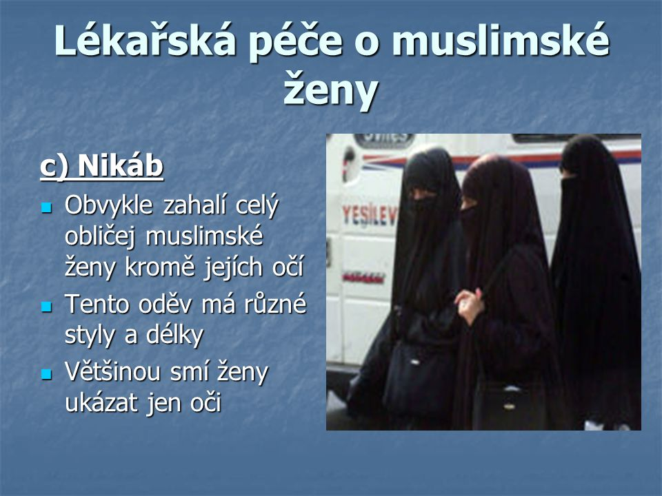 Lékařská péče o muslimské ženy