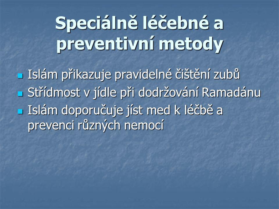 Speciálně léčebné a preventivní metody