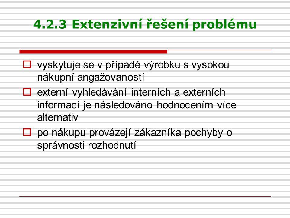 4.2.3 Extenzivní řešení problému