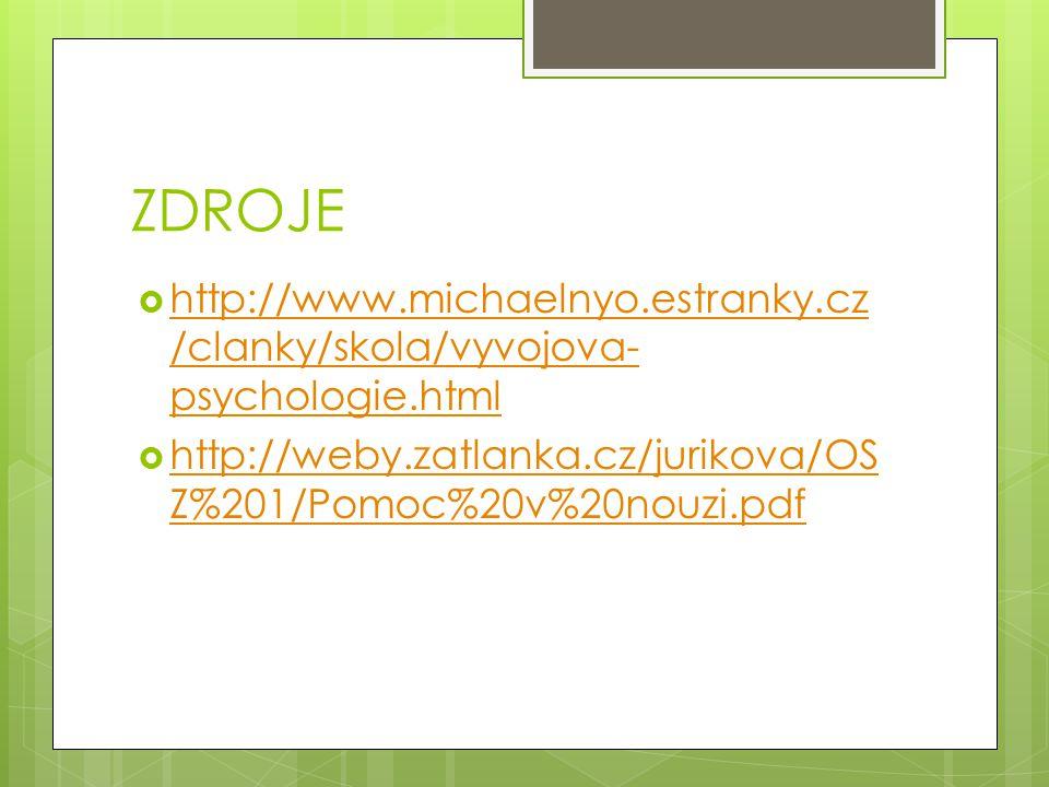 ZDROJE http://www.michaelnyo.estranky.cz/clanky/skola/vyvojova-psychologie.html.