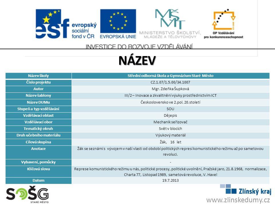 název www.zlinskedumy.cz Název školy